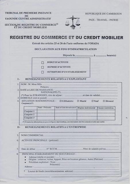 Eregulations douala for D et co inscription